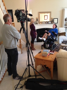 The Channel 9 team invading my house