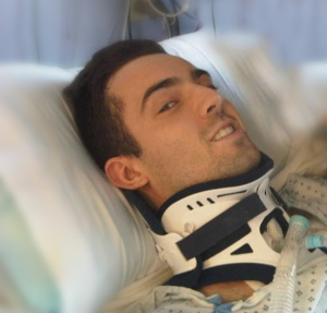 Grateful to be alive in the ICU just days after my accident