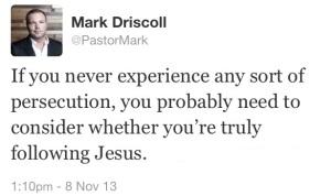 Driscoll persecution tweet
