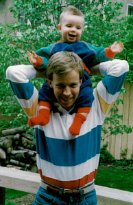 My dad and I styling in the 80s